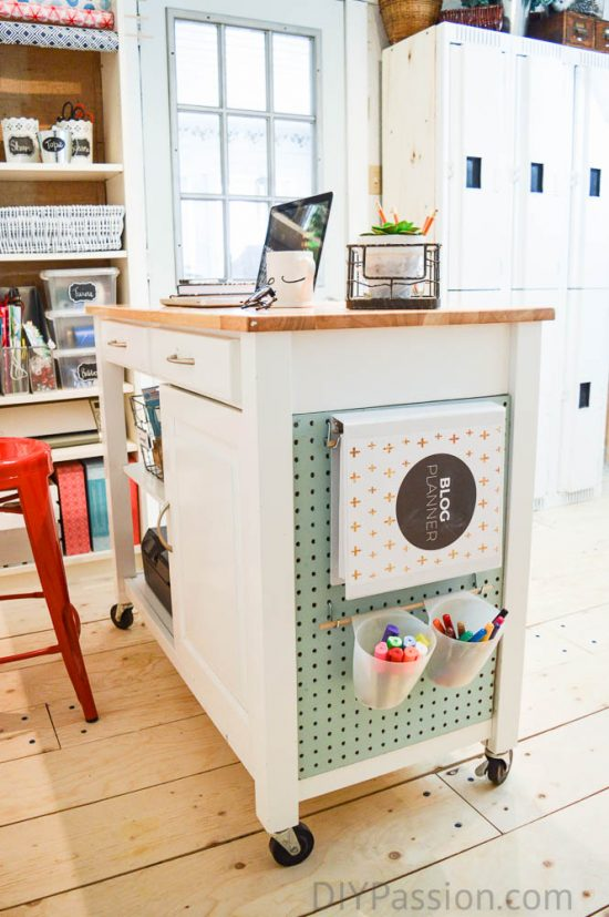 put-a-pegboard-on-a-diy-craft-cart