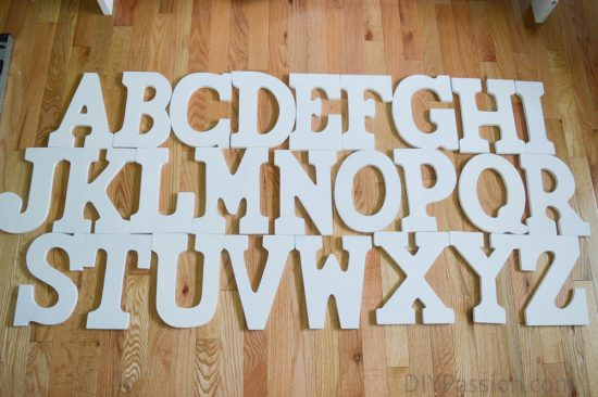 Hanging an Alphabet Wall - Determine the Layout