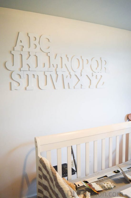 How To Hang An Alphabet Wall Diy Passion