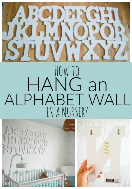 How to Hang an Alphabet Wall in a Nursery
