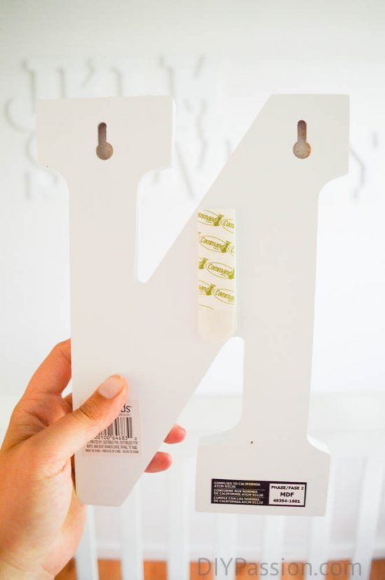 How to Hang an Alphabet Wall using Command Velcro Strips