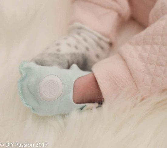 Owlet Baby Sock on Foot