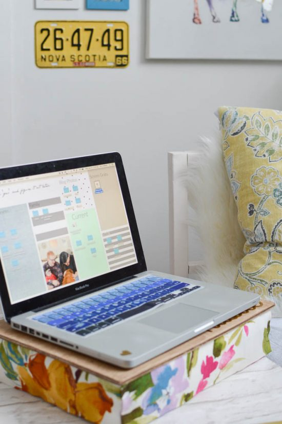 Make Your Own Lap Desk Pillow No Sewing Required Diy Passion