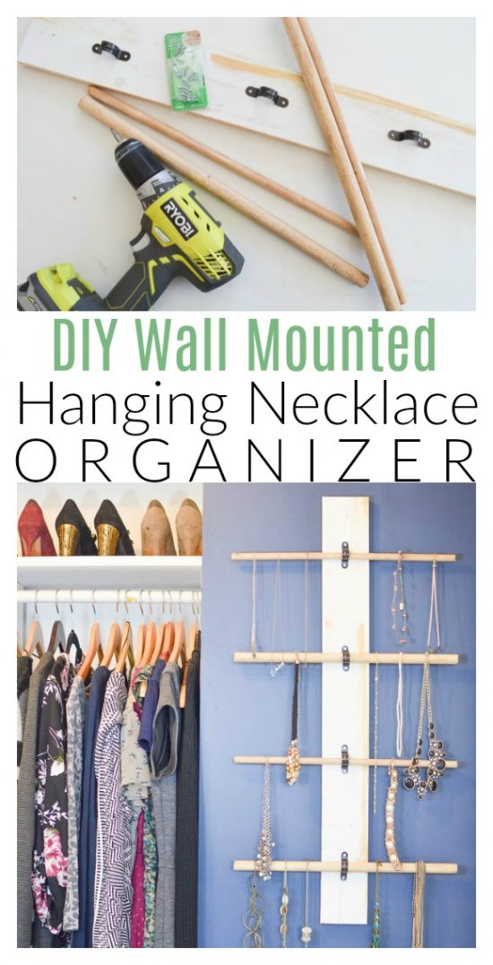 Hanging Necklace Organizer DIY