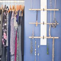 How to Make a Hanging Necklace Organizer