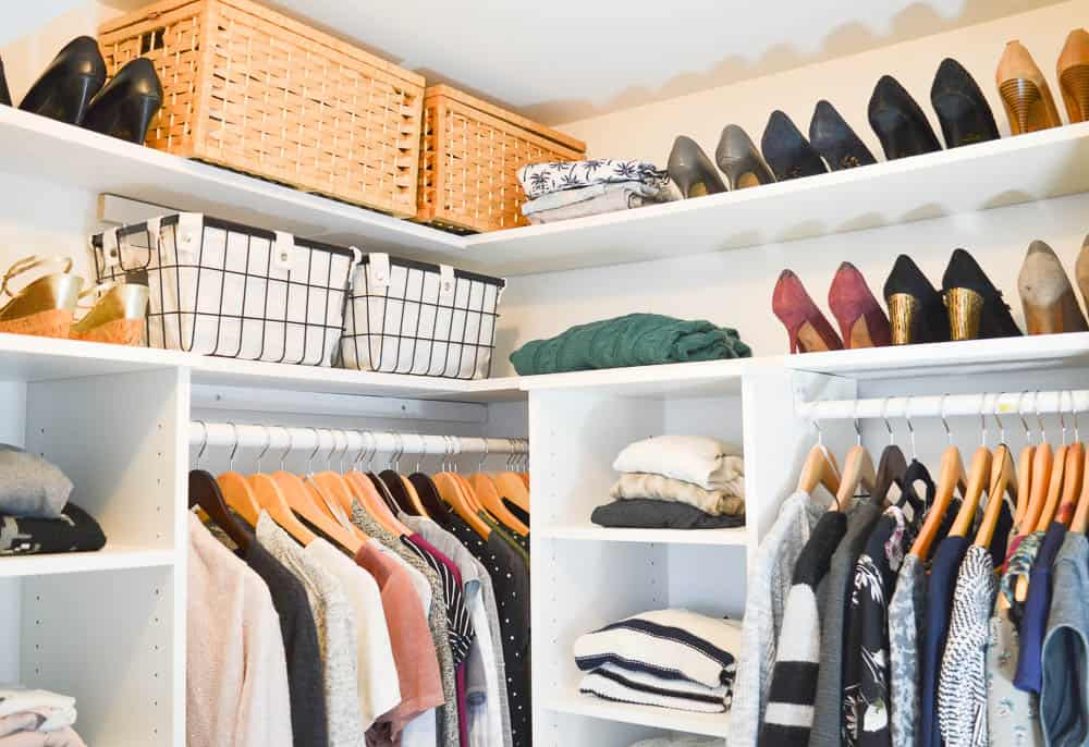 konmari closet organization