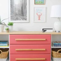 A Blushing Bombshell Credenza in the Playroom | June DIY Challenge