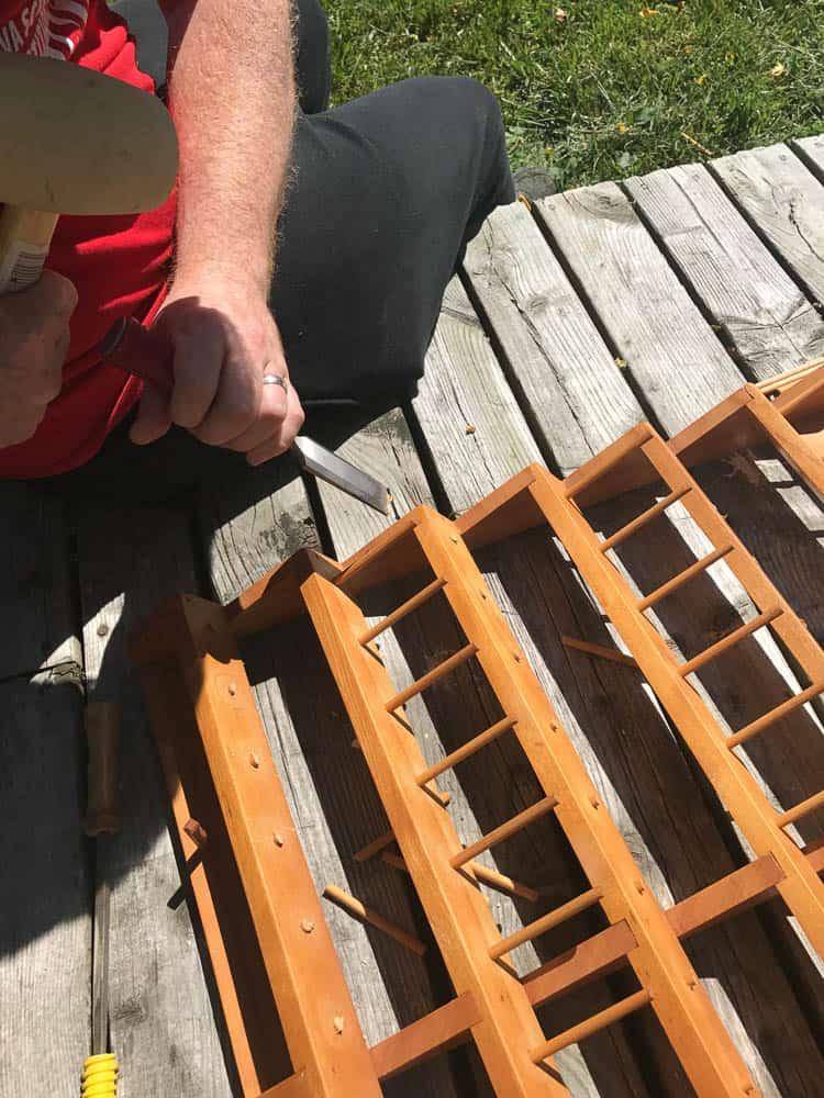 DIY VIntage Mug Rack 3-3