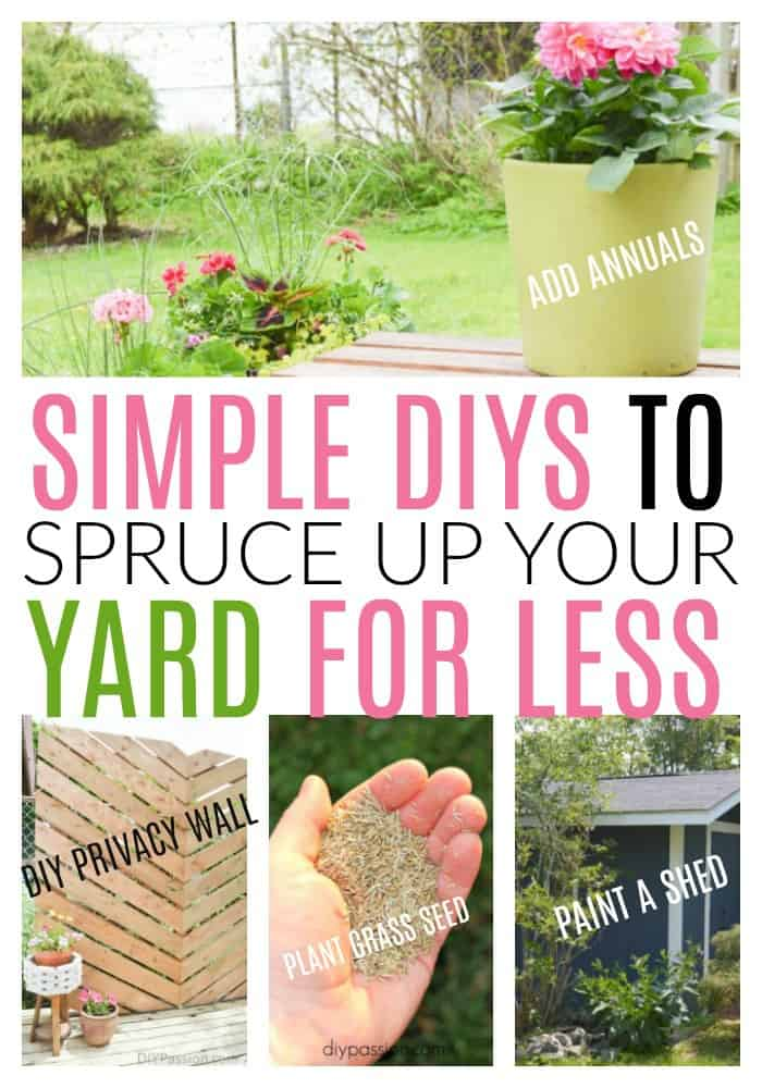 spruce up your backyard for less
