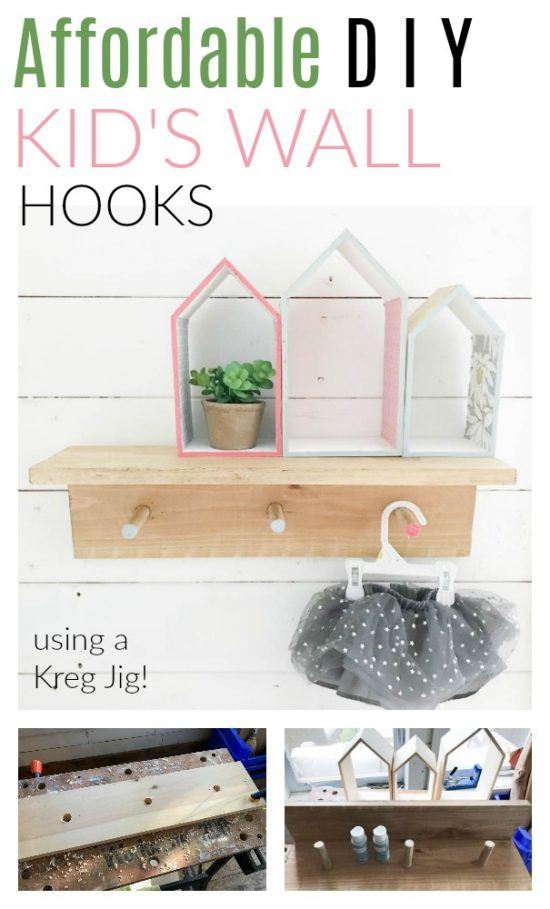 diy kids wall hooks