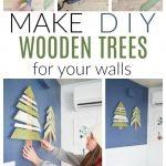 diy wooden trees