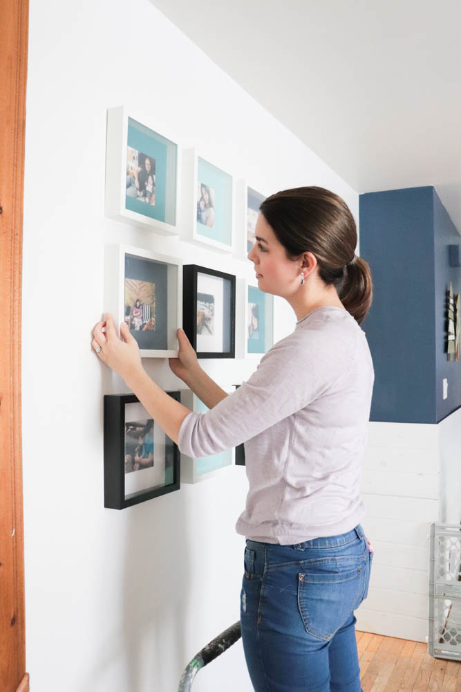 How To Hang An Instagram Photo Wall With Ikea Frames Diy