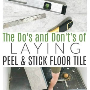 How to install peel and stick tile in a bathroom