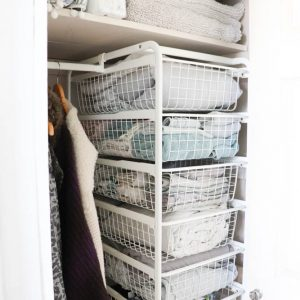 ikea hack organizing line cupboard