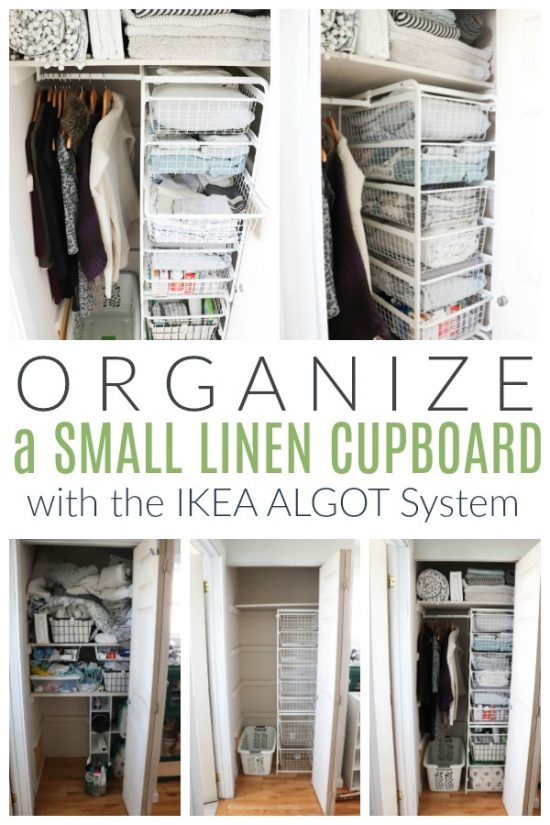 How to Organize a Small Linen Cupboard with IKEA products