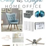 Airy and Bright Home Office Decor