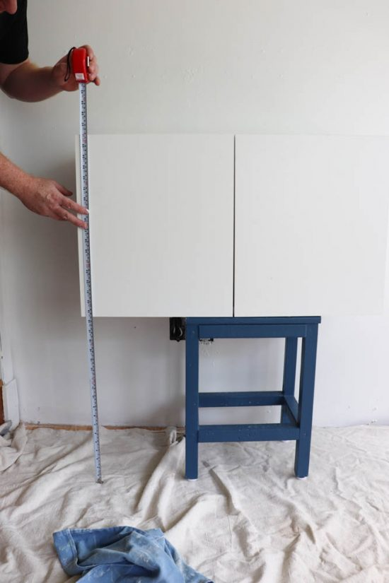 how to hang a floating credenza