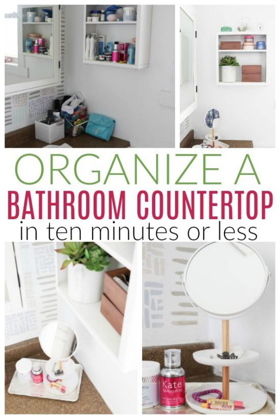 10 Minute Bathroom Countertop Organization Diy Passion,Flowers That Bloom At Night In India