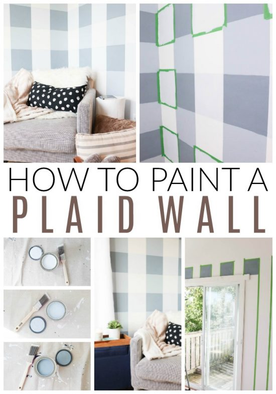 how to paint a plaid wall