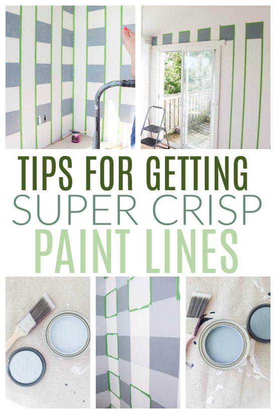 tips for getting crisp paint lines