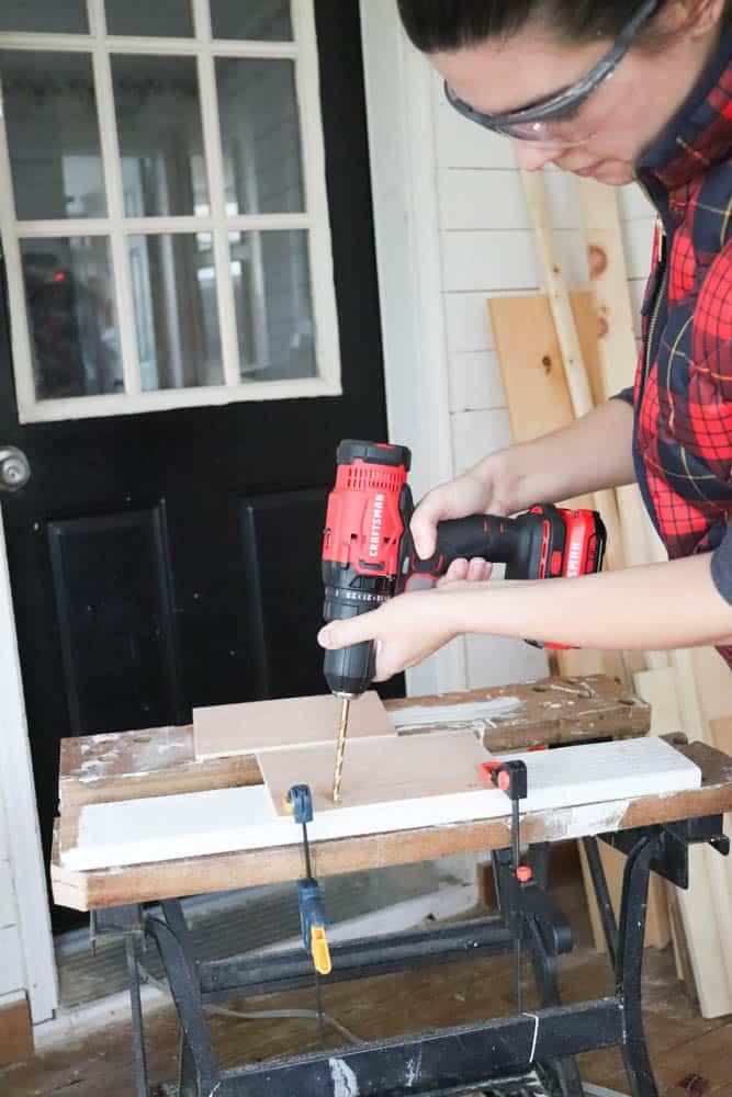 Step 2 - Drill pocket holes on short sides