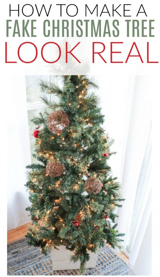 Fake Christmas Tree.How To Make A Fake Christmas Tree Look Real Diy Passion