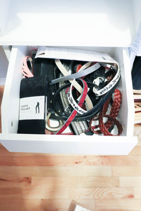 how to store belts the Marie Kondo way