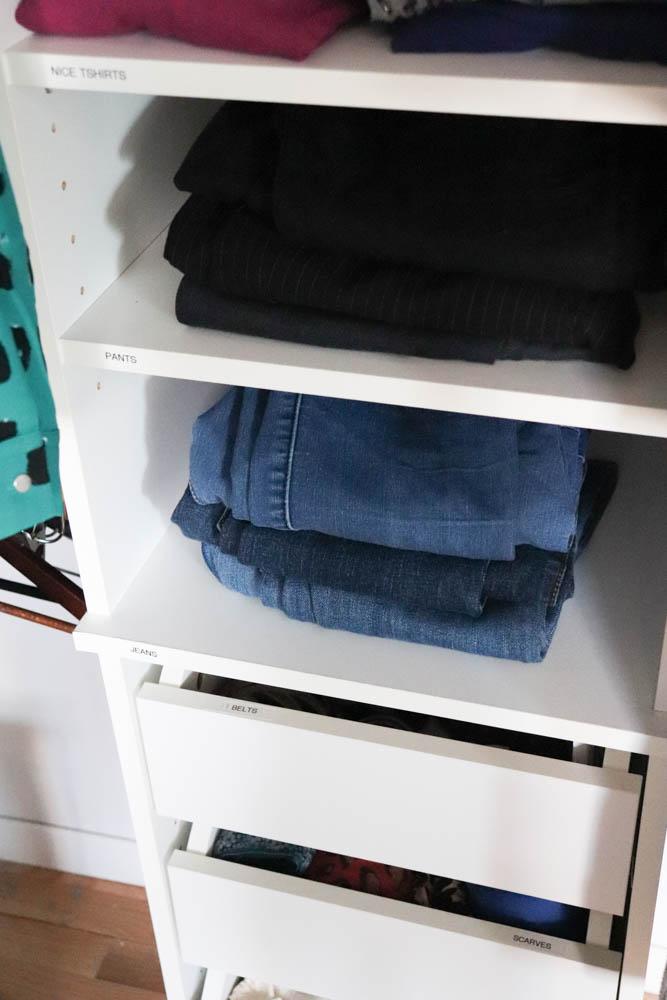 konmari folding pants