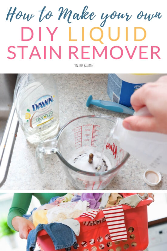 How To Make Your Own Diy Liquid Stain Remover Diy Passion