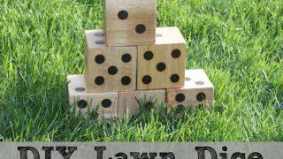 DIY Wooden Yard Dice