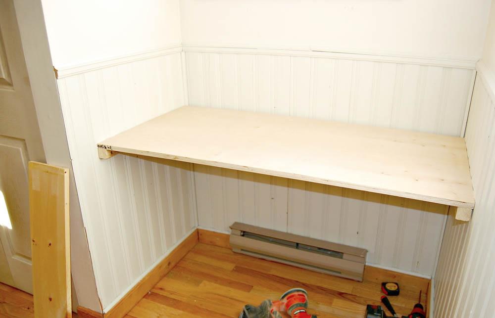 Attach built in floating desk