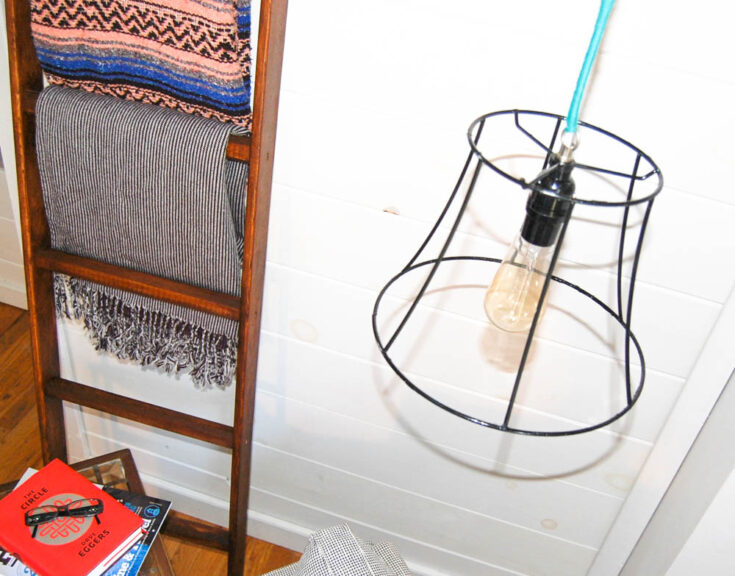 How to Make a DIY Industrial Cage Light | Thrifty Project!