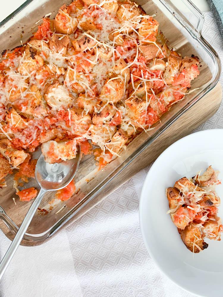Cheesy Tomato Bread Bake 2