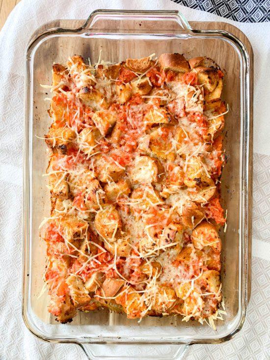 Cheesy Tomato Bread Bake 4