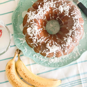 Coconut Banana Bundt Cake Feature