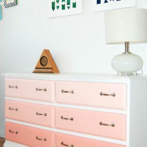 pink ombre dresser