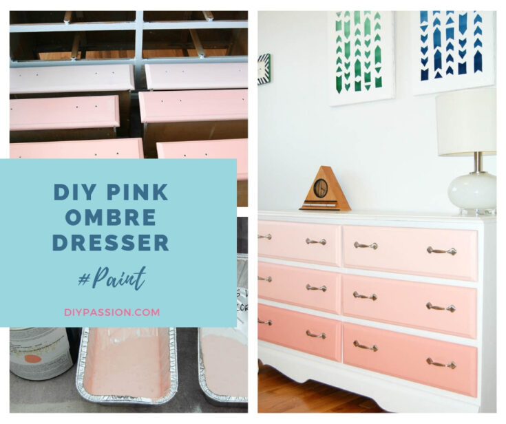 Paint Your Own Pink Ombre Dresser {TUTORIAL}