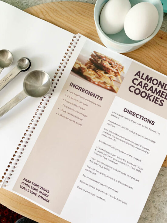 Free Recipe Book Template from www.diypassion.com