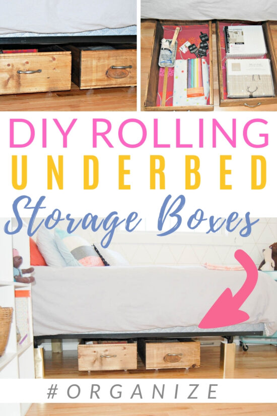 DIY Rolling Under Bed Storage Boxes