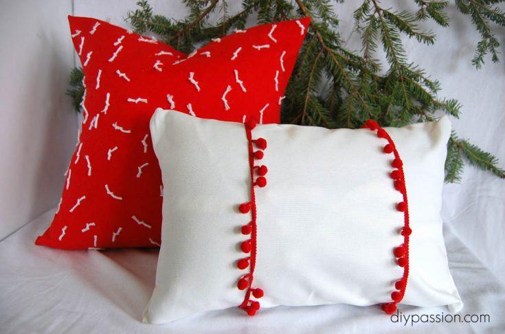 DIY Modern Snowflake Christmas Pillow Covers | HOLIDAY CRAFT