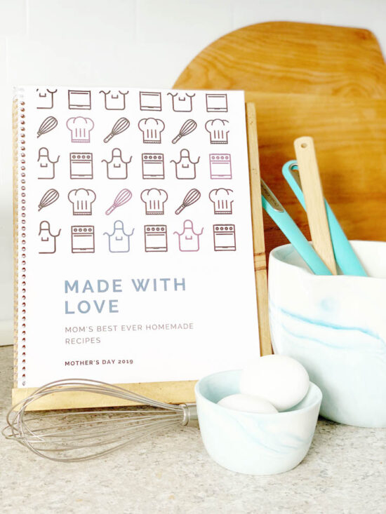 diy family recipe book  free template