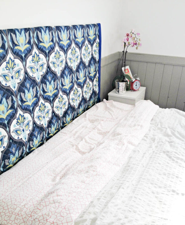 Make a DIY Wall Mounted Fabric Headboard
