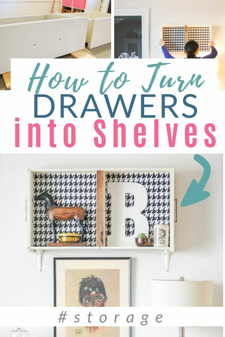 How cute! Take old drawers and hang them on the wall! Perfect for decor display and a bit of extra storage. CLICK to see how it's done. #storage #upcycle #drawers #diypassion