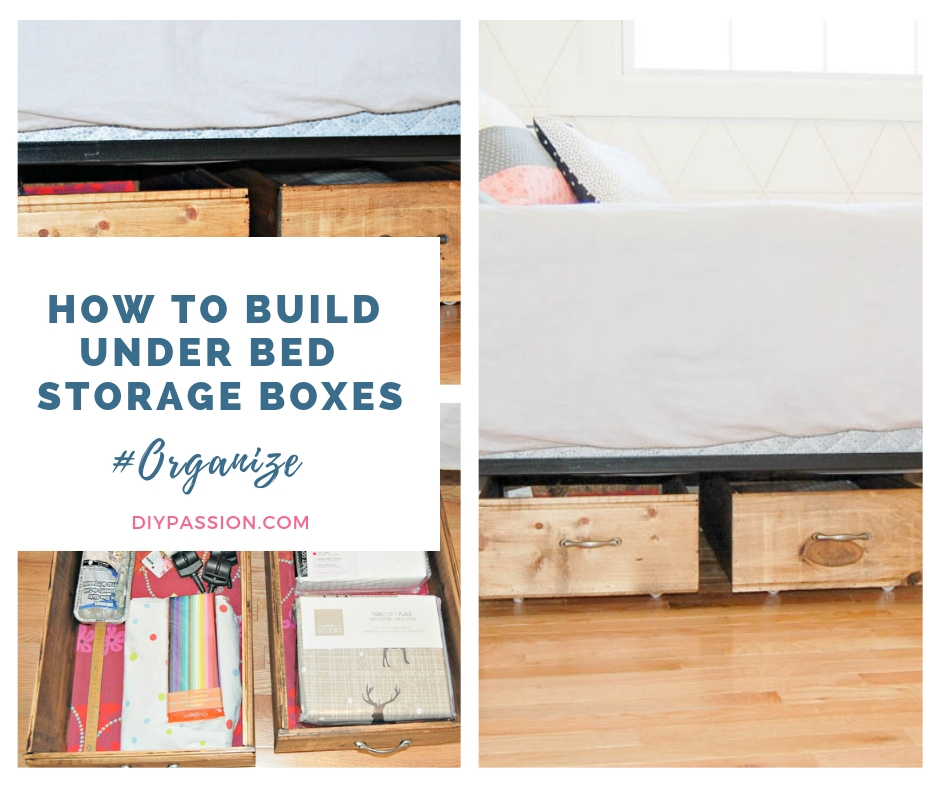 Make Your Own Under Bed Rolling Storage Crates Small Space
