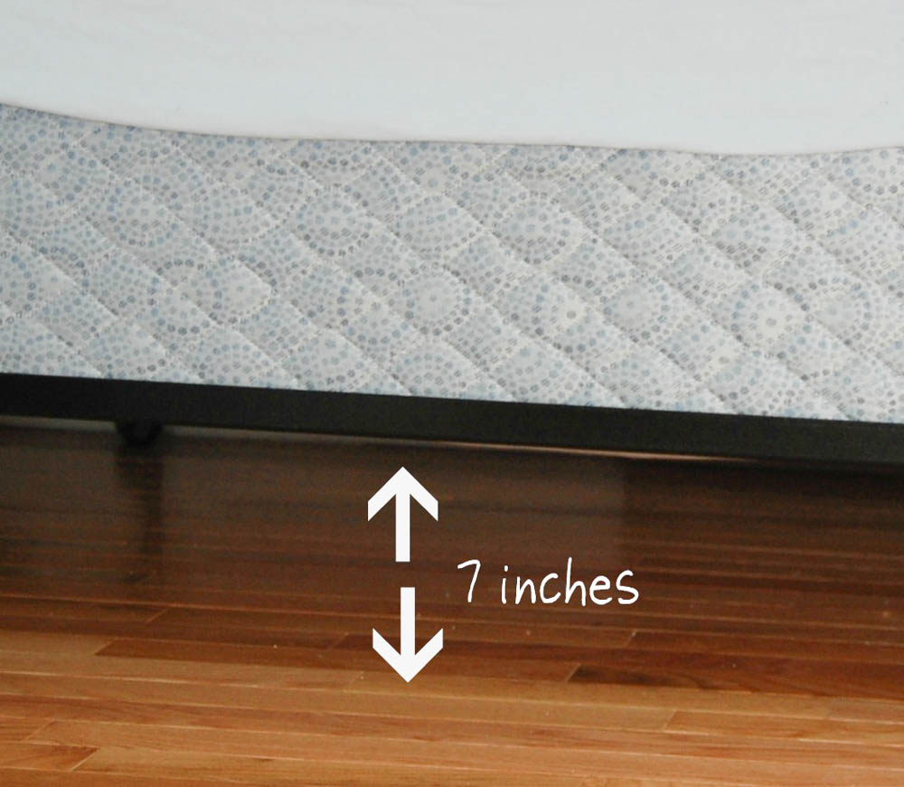 Measure under bed storage