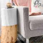 Stump table DIY