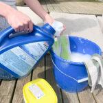 laundry soap oxygen bleach soapy bucket of water
