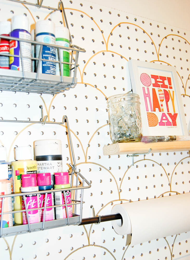 DIY Pegboard Organizer for a Small Craft Room
