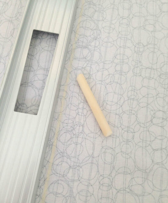 mark fabric with chalk and cut