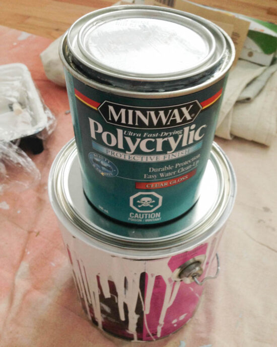 paint can and polycrylic